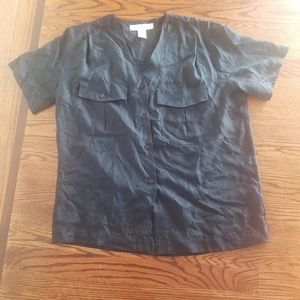 Jones New York Silk Black Blouse